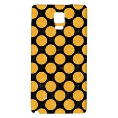 Circles2 Black Marble & Orange Colored Pencil Galaxy Note 4 Back Case by trendistuff