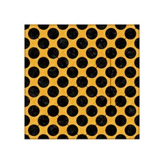 Circles2 Black Marble & Orange Colored Pencil (r) Acrylic Tangram Puzzle (4  X 4 ) by trendistuff