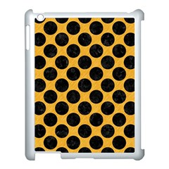 Circles2 Black Marble & Orange Colored Pencil (r) Apple Ipad 3/4 Case (white) by trendistuff
