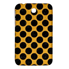 Circles2 Black Marble & Orange Colored Pencil (r) Samsung Galaxy Tab 3 (7 ) P3200 Hardshell Case