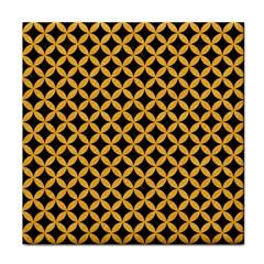Circles3 Black Marble & Orange Colored Pencil Tile Coasters by trendistuff