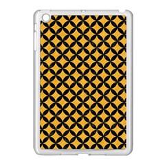 Circles3 Black Marble & Orange Colored Pencil (r) Apple Ipad Mini Case (white) by trendistuff