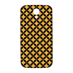 Circles3 Black Marble & Orange Colored Pencil (r) Samsung Galaxy S4 I9500/i9505  Hardshell Back Case by trendistuff