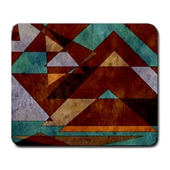 Turquoise And Bronze Triangle Design With Copper Large Mousepads by digitaldivadesigns