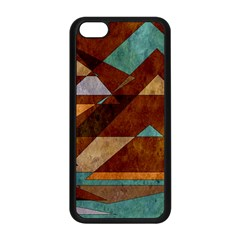 Turquoise And Bronze Triangle Design With Copper Apple Iphone 5c Seamless Case (black) by theunrulyartist