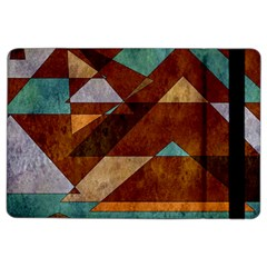Turquoise And Bronze Triangle Design With Copper Ipad Air 2 Flip by theunrulyartist