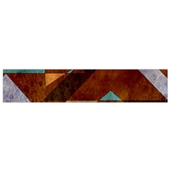 Turquoise And Bronze Triangle Design With Copper Flano Scarf (small) by theunrulyartist