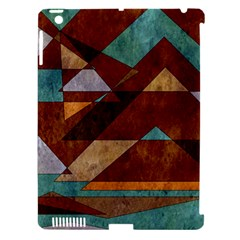 Turquoise And Bronze Triangle Design With Copper Apple Ipad 3/4 Hardshell Case (compatible With Smart Cover) by digitaldivadesigns