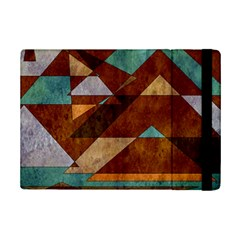 Turquoise And Bronze Triangle Design With Copper Ipad Mini 2 Flip Cases by digitaldivadesigns