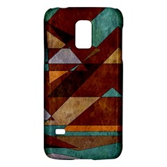 Turquoise And Bronze Triangle Design With Copper Galaxy S5 Mini by theunrulyartist