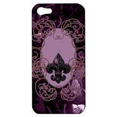 Soft Violett Floral Design Apple Iphone 5 Hardshell Case by FantasyWorld7