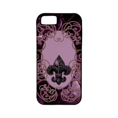 Soft Violett Floral Design Apple Iphone 5 Classic Hardshell Case (pc+silicone) by FantasyWorld7