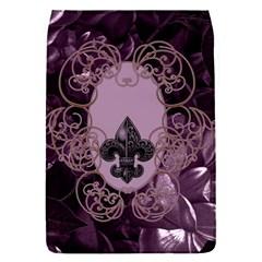 Soft Violett Floral Design Flap Covers (s)