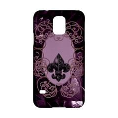 Soft Violett Floral Design Samsung Galaxy S5 Hardshell Case  by FantasyWorld7