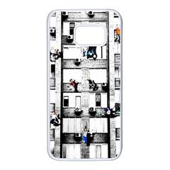Jump, Jump Samsung Galaxy S7 White Seamless Case by Valentinaart