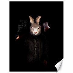 Evil Rabbit Canvas 18  X 24   by Valentinaart