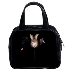 Evil Rabbit Classic Handbags (2 Sides) by Valentinaart
