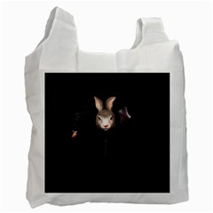 Evil Rabbit Recycle Bag (one Side) by Valentinaart