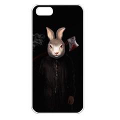 Evil Rabbit Apple Iphone 5 Seamless Case (white) by Valentinaart
