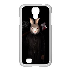 Evil Rabbit Samsung Galaxy S4 I9500/ I9505 Case (white) by Valentinaart