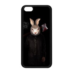 Evil Rabbit Apple Iphone 5c Seamless Case (black) by Valentinaart