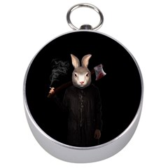 Evil Rabbit Silver Compasses by Valentinaart