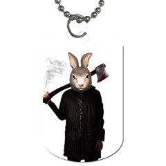 Evil Rabbit Dog Tag (two Sides) by Valentinaart