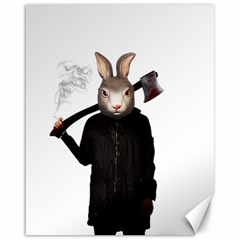 Evil Rabbit Canvas 16  X 20   by Valentinaart