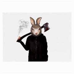 Evil Rabbit Large Glasses Cloth (2 Side) by Valentinaart