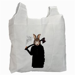 Evil Rabbit Recycle Bag (two Side)  by Valentinaart
