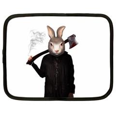 Evil Rabbit Netbook Case (xl)  by Valentinaart