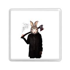 Evil Rabbit Memory Card Reader (square)  by Valentinaart