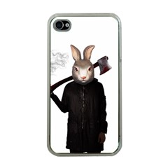 Evil Rabbit Apple Iphone 4 Case (clear) by Valentinaart