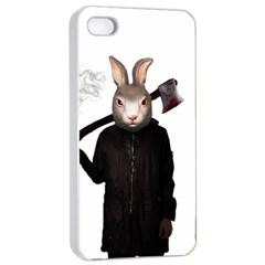 Evil Rabbit Apple Iphone 4/4s Seamless Case (white) by Valentinaart