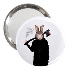 Evil Rabbit 3  Handbag Mirrors by Valentinaart