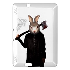 Evil Rabbit Kindle Fire Hdx Hardshell Case by Valentinaart