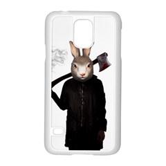 Evil Rabbit Samsung Galaxy S5 Case (white) by Valentinaart
