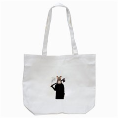Evil Rabbit Tote Bag (white) by Valentinaart