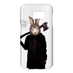 Evil Rabbit Samsung Galaxy S7 Hardshell Case  by Valentinaart