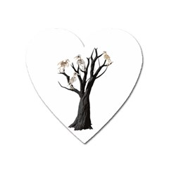 Dead Tree  Heart Magnet by Valentinaart