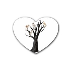 Dead Tree  Rubber Coaster (heart)  by Valentinaart