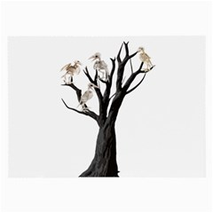 Dead Tree  Large Glasses Cloth (2 Side) by Valentinaart