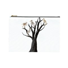 Dead Tree  Cosmetic Bag (large)  by Valentinaart