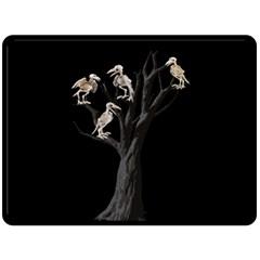 Dead Tree  Fleece Blanket (large)  by Valentinaart