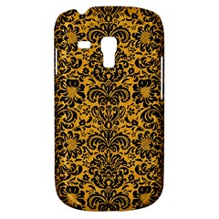 Damask2 Black Marble & Orange Colored Pencil (r) Galaxy S3 Mini by trendistuff