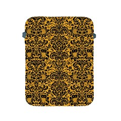 Damask2 Black Marble & Orange Colored Pencil (r) Apple Ipad 2/3/4 Protective Soft Cases by trendistuff