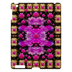 Flowers And Gold In Fauna Decorative Style Apple Ipad 3/4 Hardshell Case by pepitasart