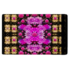 Flowers And Gold In Fauna Decorative Style Apple Ipad 3/4 Flip Case by pepitasart