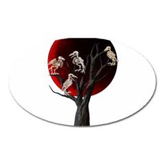 Dead Tree  Oval Magnet by Valentinaart