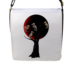 Dead Tree  Flap Messenger Bag (l)  by Valentinaart